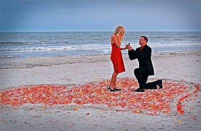 proposing at beach